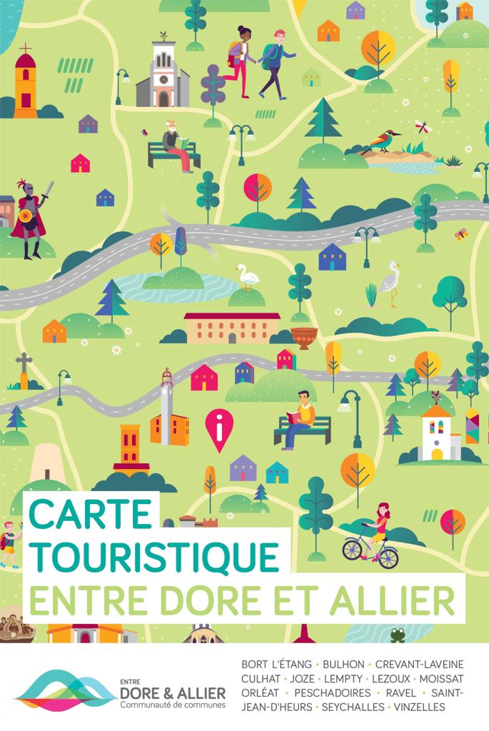 carte touristique puy de dome Demandez la carte touristique Entre Dore et Allier !   Communauté