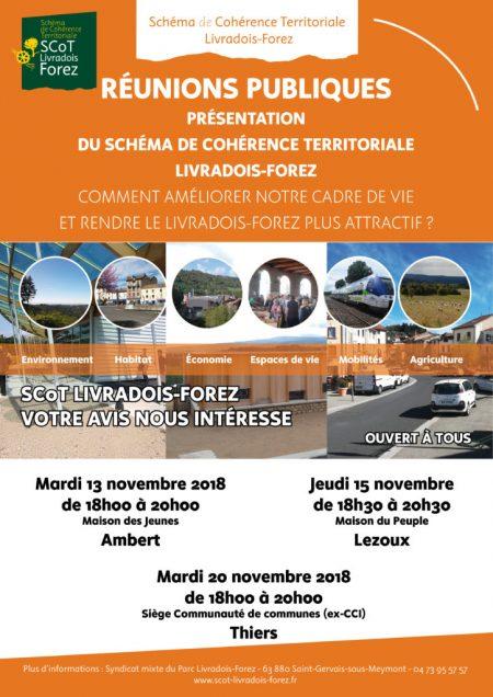 Schéma de Cohérence Territoriale (SCOT) : réunion de présentation le 15 novembre à Lezoux