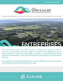 Newsletter Entreprises - Décembre 2020